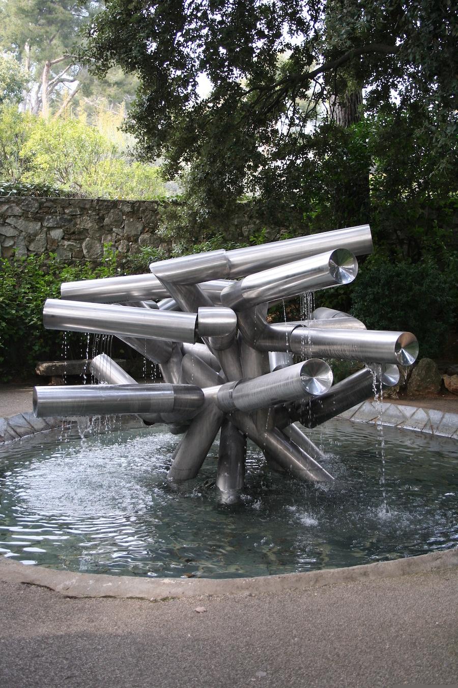 The Pol Bury Fountain, 1978, Stainless steel.